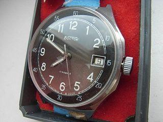 Herren Armbanduhr Vostok Handaufzug Udssr Ovp Bild