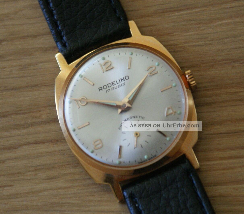 Nos Dau Classico Rodelino 1960 Ladies,  Handaufzug Swiss Made Armbanduhren Bild