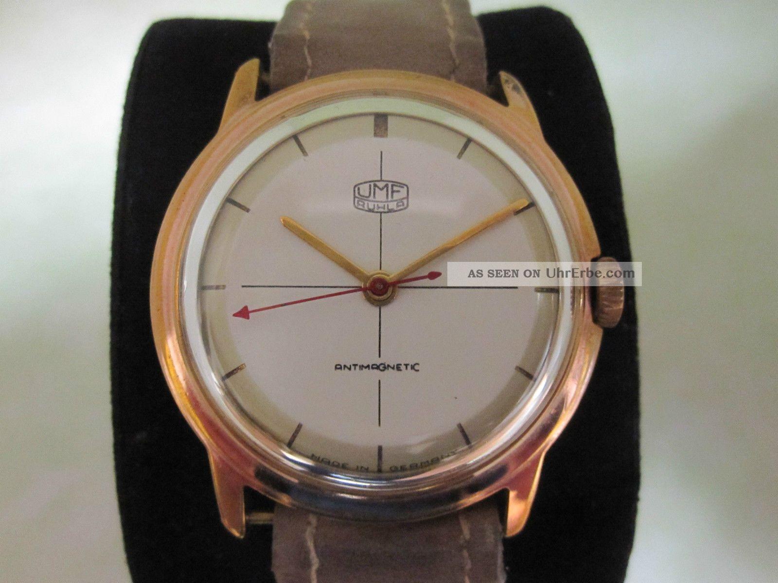 Goldene Ruhla Umf 23 Hau Ddr Funktioniert Handaufzug Armbanduhren Bild