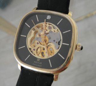 Revue Msr T44 Skelett Herren - Armbanduhr Handaufzug 34mm Swiss Made Bild