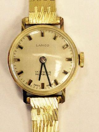 Damen Armbanduhr 595 Gold Mit Armband Vergoldet Bild