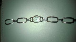 Vintage Dugena Damenuhr Silber Handaufzug Bild