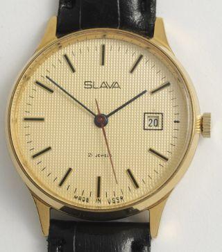 Slava Schöne,  Klassische,  Elegante Armbanduhr.  Ussr Vintage Dress Wristwatch. Bild