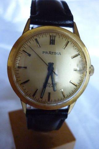 Herrenuhr Prätina 17 Rubis Mechanisch Handaufzug Uhr Armbanduhr Bild