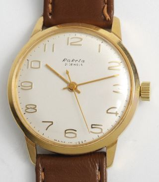 Raketa Klassische,  Elegante Soviet Armbanduhr Top Made In Ussr Dress Watch.  21j Bild
