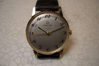 Certina Alte Herren Armbanduhr 60 ' Er J.  Werkskal.  25 - 66 Sehr Schöner Gebr.  Zust. Bild