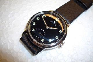 Edox Swiss Nos Alte Herren Armbanduhr Dienstuhr Kal.  As 1130 - 60 ' Er J.  Top Zust. Bild