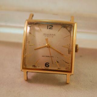Silvana Herren Armbanduhr,  Handaufzug,  50er Jahre,  Funktioniert Bild