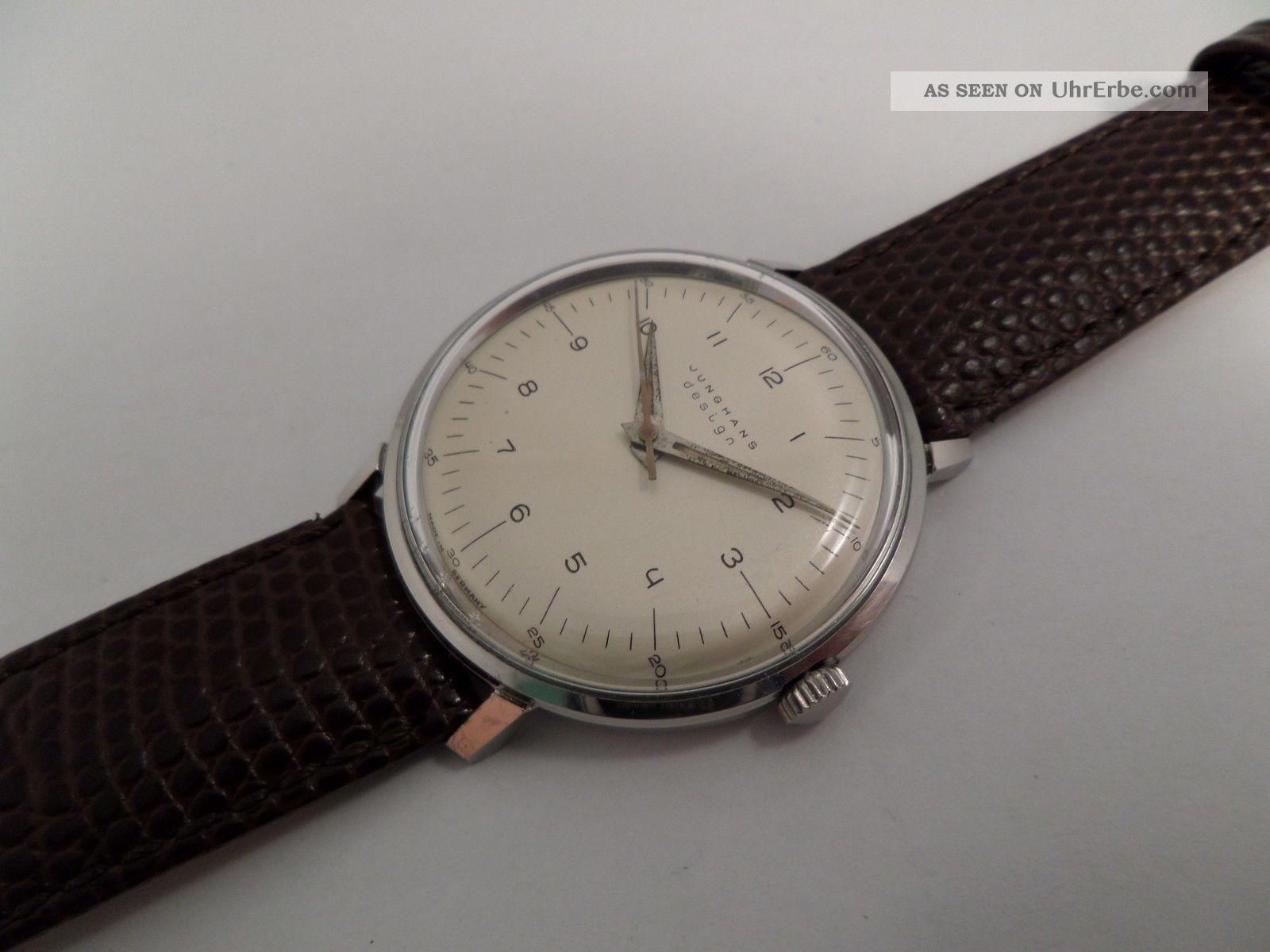 vintage junghans max bill kal 85 feinregulierung herrenuhr armbanduhr. Black Bedroom Furniture Sets. Home Design Ideas