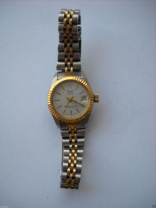 Royal,  Damen,  Armbanduhr,  Handaufzug,  Zum Teil Vergoldet Bild