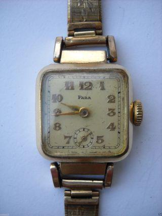 Para,  Damen,  Armbanduhr,  Handaufzug,  Vergoldet,  Kaliber 810 (urofa 522),  30er Jahre Bild