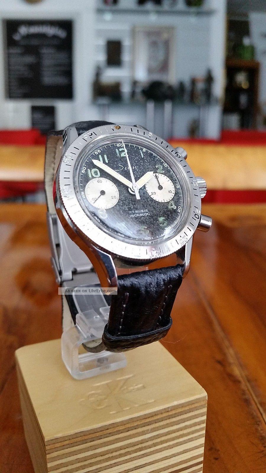 Orig.  Sinn 101/102 Bicompax Chronograph - Extrem Selten - Landeron 248 Armbanduhren Bild