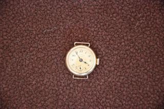 Movado Chronometer,  Vintage,  585 Gold Massiv,  Referenz 9651, Bild