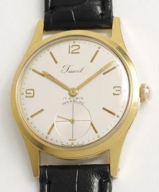 Juwel Schweizer Armbanduhr Mit As 1130 Wehrmachtswerk.  Swiss Made Vintage Watch. Bild