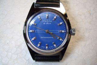 Ruhla De Luxe Nos Alte Herren Armbanduhr 70 ' Er J.  Umf Kaliber Sehr Guter Zust. Bild