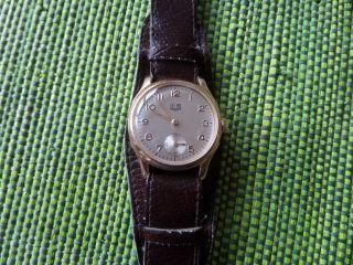 Gub Glashütte,  Hau,  50er - Jahre,  Handaufzug Cal.  60,  Top Bild