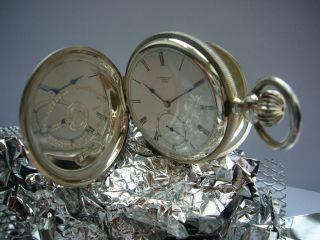 Longines Savonette Francillon Taschenuhr Limitiert Sterlingsilber 925 Bild