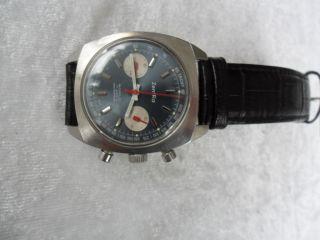 Zentra Chronograph Edelstahl Mechanisch 70 Jahre Bild