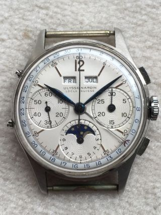 Ulysse Nardin Vollkalender Mondphase Triple Date Moonphase Vintage Chronograph Bild