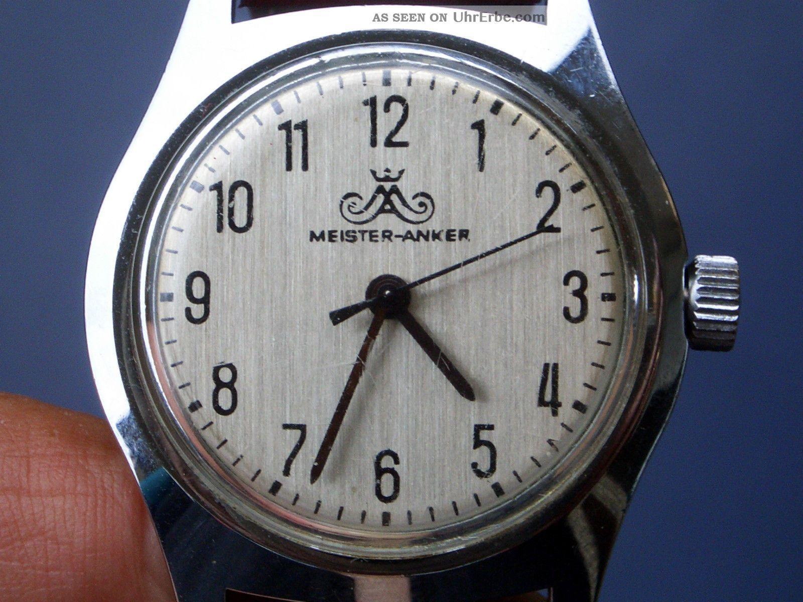 Seltene Mechanische Meister Anker Herrenarmbanduhr Gut Erhalten Läuft Gut. Armbanduhren Bild