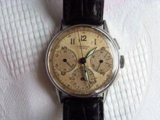 Universal Geneve Herren Chronograph.  Stahl Gehäuse Von Ca.  1950 Bild