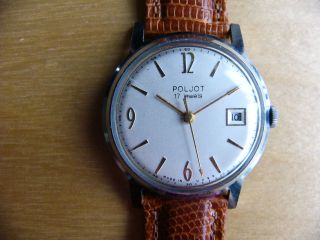 Herrenarmbanduhr Poljot,  Handaufzug,  60er Jahre Bild