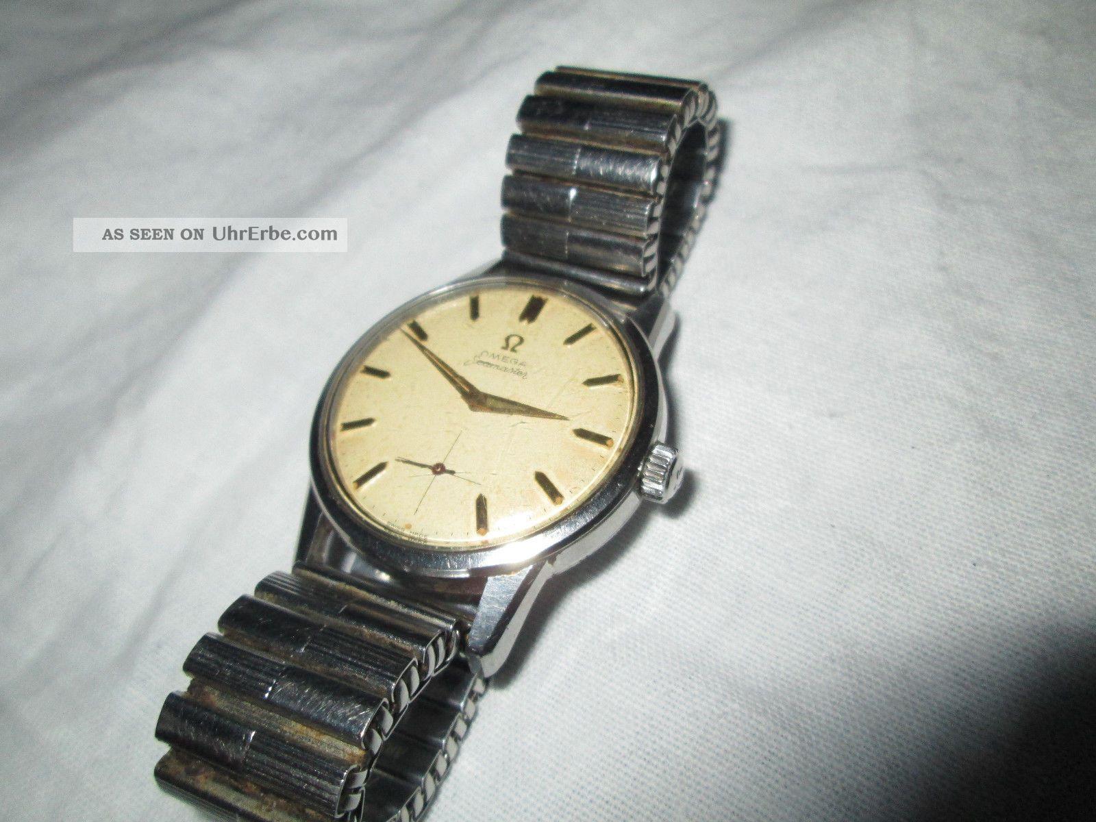 alte mechanische armbanduhr uhr vintage omega seamaster. Black Bedroom Furniture Sets. Home Design Ideas