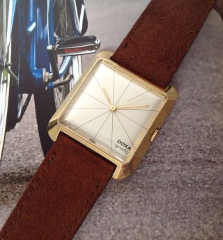 1958 Doxa Grafic Herrenuhr 50er Jahre Vintage Design Watch Bauhaus Max Bill Stil Bild