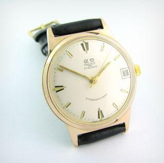 Top Gub Glashutte 17 Rubis.  Gold Plated.  Cal.  69.  1.  Rarity Bild
