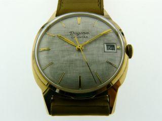 Seltene Dugena Calendar Armbanduhr Handaufzug Kal.  7166 Bzw.  Otero 712 Bild