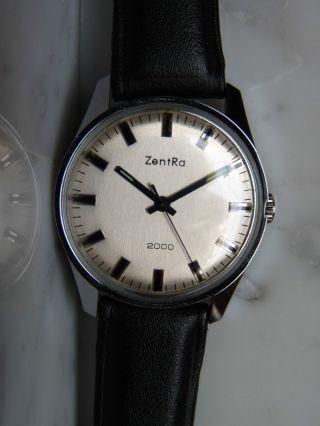 Herrenuhr Zentra 2000 Läuft Alt Vintage Chrom Ca.  1970 Bild