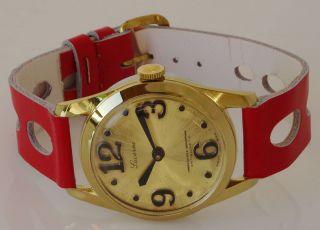 Vergoldete Swiss Made Uhr Lucerne Alte Ungetragene Sammleruhr Handaufzug,  Lu - 54 Bild