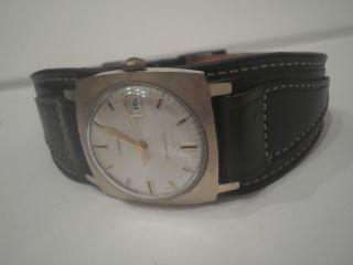 Rar Alte Mechanische Timex Herrenuhr Mit Datum - Vergoldet Mit Punze - Bild