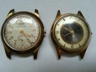 2 Alte Mechanische Uhren / Zeigerdatum Bild