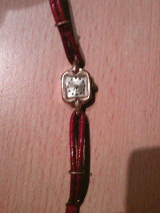 Alte Uhr Ruhla Damenuhr 17 Jewels Läuft Bild