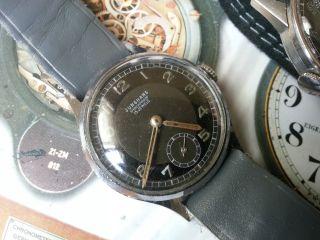 Junghans Kal.  98 Militaruhr 2.  Wk Vintage Elegante Selten Herren Armbanduhr 1940 Bild
