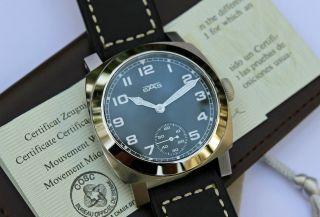 Chronometer Fliegeruhr Cosc Unikat Mit Unitas 6498 - 2 High Beat Handaufzug Top Bild