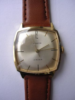 Armbanduhr Anker Mechnisch Vintage Hau Handaufzug Bild