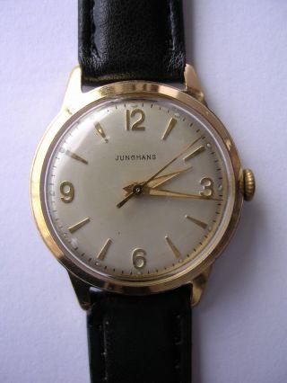 Armbanduhr Junghans Mechnisch Vintage Hau Handaufzug Bild