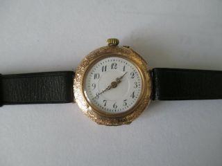Armbanduhr Taschenuhr Gold 585 Von Ca.  1910 Bild