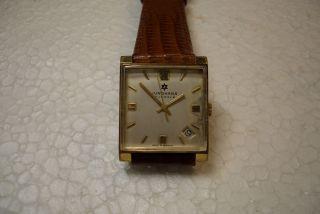 Junghans Alte Herren Armbanduhr 60 ' Er J.  Kal.  J 620.  02 Gebr. Bild