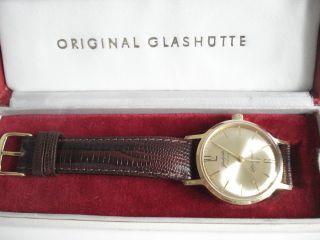 Glashütte /sa Gub Kal.  70.  3 Chronometer Seltenheit Handaufzug,  Erbstück Bild