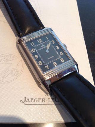 Jaeger Le Coultre Reverso Grande Taille Shadow Ref: 271.  8.  61 Mit Papieren Bild