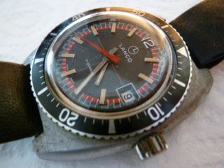 Vintage Lanco Diver 60 - 70er Kaliber Eb 8800 Swiss Made For Projekt Bild