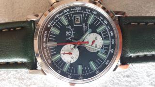 Re - Watch Chronograph Herrenuhr Aus Den 70er Mechanisch Handaufzug Bild