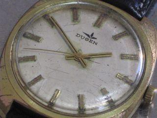 Dugena Mech.  Herren - Armbanduhr Datum Kal.  2508 / Puw 560 Läuft Bild