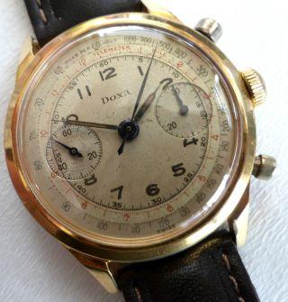 Doxa Chronograph Bicolor Verschraubt Mit Valjoux Cal 22 - 38 Mm 50iger Bild