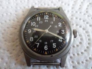 Benrus MilitÄruhr Wrist Watch 1965 Vietnam War Bild