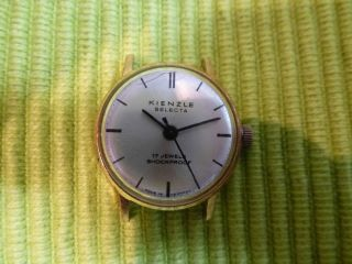 Kienzle Selecta 17jewels,  Shockproof Armbanduhr,  Handaufzug - Funktionstüchtig Bild