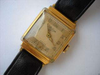 Bifora,  Armbanduhr,  Vergoldet,  Handaufzug,  älter Bild